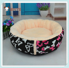 Winter round pet beds dog bed with super soft plush fur fabric
