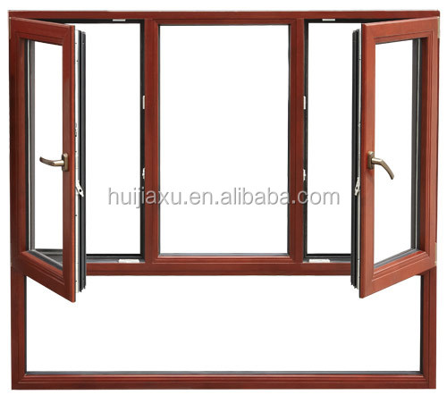 new technology aluminum french double casement sash window