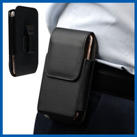 BLACK Universal Belt Clip Magnetic Holster Flip Slide Leather Case For iPhone 6s