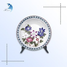 High quality personalized round shape ware plastic plates antique decorative fruit plastic plates