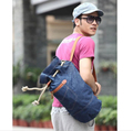 2017 high quality men travel bag price denim travel duffel bag wholesale