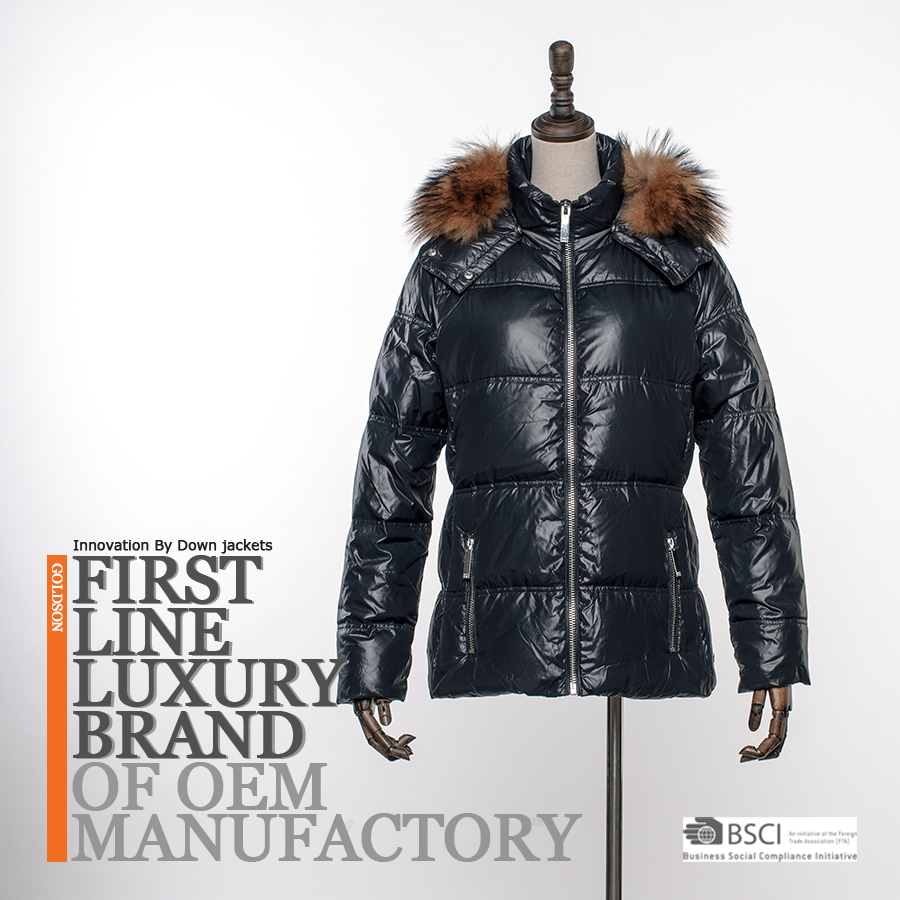 Top Design Decorate YKK Zippr & Racoon Fur Women Goose Down Jacket Outdoor Clothing From Professional Chinese Vendor