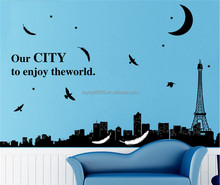 DIY Removable City In Night Bed Room Decorative Wall Stickers