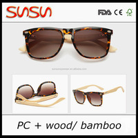Wholesale China Factory OEM Custom Logo bamboo Sunglasses 2016 High Quality Cheap Price wood Sunglasses