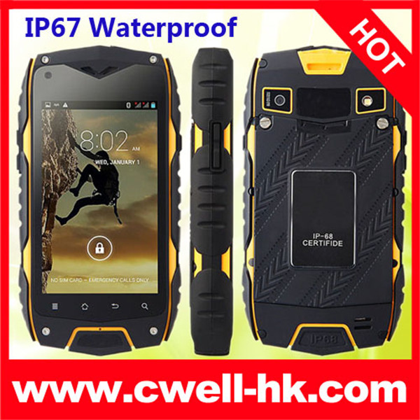 China 4.0 Inch 3G GPS g-sensor function ip67 mobile phone waterproof