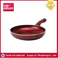 Induction aluminium press colorful non-stick coating fry pan