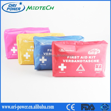OP manufacture FDA CE ISO approved oem wholesale professional pink auto car vehicle emergency kit
