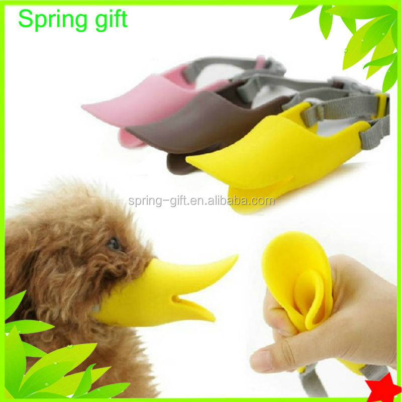 pet products latex duckbilled Bark bite stop Duck-face Dog Muzzle