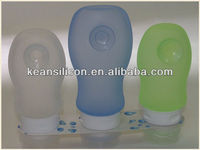 Leak Proof Travel Bottle With Strong Suction Made of Silicone in China