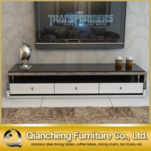 Marble italian design modern tv stand with mdf drawer