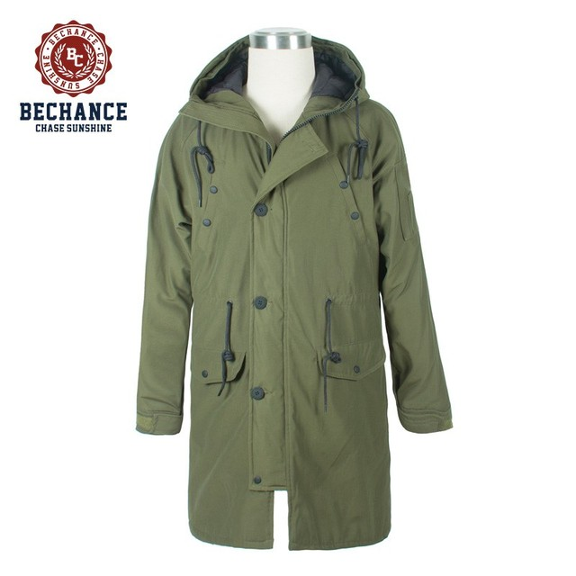 M1121 Men winter casual long padding parka