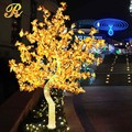 Acrylic led lighted flower tree maple tree for park decoration