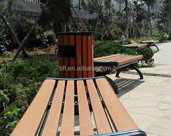 2015 new outdoor wooden leisure chair bench
