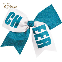 Personalized cheer bow in Script Glitter Font