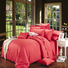 red 100% cotton satin fabric