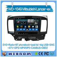 Factory tracker/car dvd player with gps for Mitsubishi Lancer-ex Android 10.1'' touch screen navigation GPS Bluetooth Radio 3G