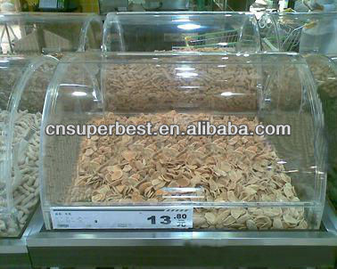 customized acrylic food display case for supermarket