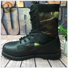 Black leather camouflage oxford cloth waterproof liberty jungle boots/safety shoes price