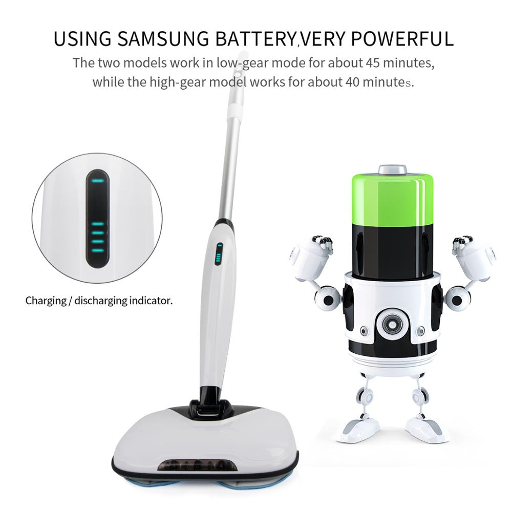 2018 new item,Cordless dual spin mop cleaner with spary water and rechargebale battery