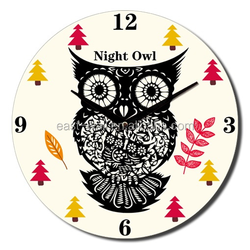 30cm OEM/ODM Night Owl Animal Clock