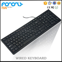Multimedia Office Wired USB Keyboard Made in China USB Computer keyboard pro for sale