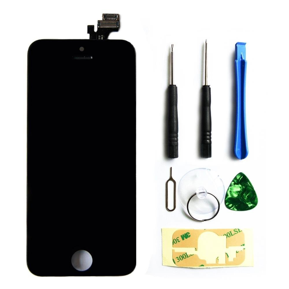 for Apple iPhone 5 5g full set lcd touch glass screen replacement digitizer assembly display touch panel black+ free tools gift