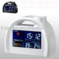 desktop projective LCD clock with multi function