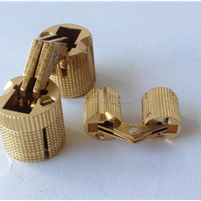 Invisible Brass Concealed Cylinder Barrel Hinge For Wooden Box
