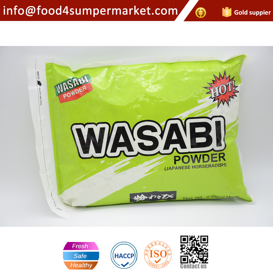 1kg green mustard powder for sushi in plastic bag