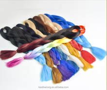 Wholesale price 24inch synthetic hair super jumbo braiding cheap ombre braid 3 tone color