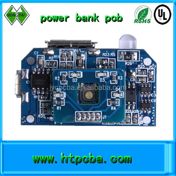customized power bank pcba,aluminum pcb circuit board assembly,blue solder mask color