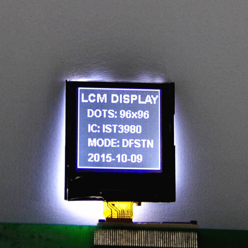 96X96 dot matrix lcd module COG LCD panel for instrument and meter