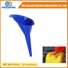 Cixi modern long handle plastic large oil funnel made in PP