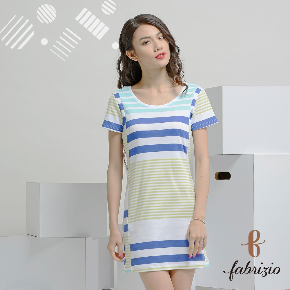 Taiwan factory OEM high quality cotton fashion women stripe dress