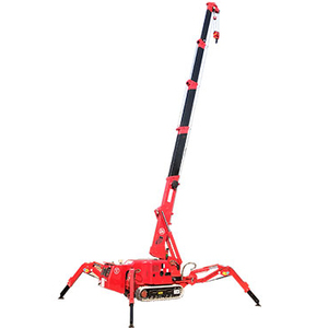 3 ton mini narrow spare electric crawler crane KB3.0 spider crane