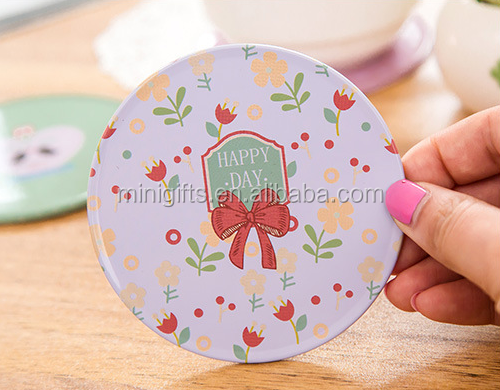 Hot sale tinplate cork coaster/wholesale metal coaster /cheap tin cup mat