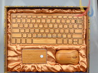 Customized Wooden/Bamboo Bluetooth Wireless laptop Keyboard for iPad Tablet