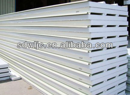 glasswool insulation eps sandwich wall panel