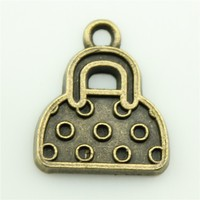 Diy Jewelry Findings Wholesale 18*15mm Handbag Charms Antique Bronze Tone Handbag Pendant A10912 For Necklace