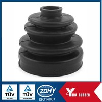 china wholesale rubber dust boot /flexible rubber bellows/corrugated rubber bellow