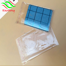 Wholesale Clear plastic opp header bags with hang hole and self adhesive tape