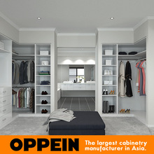 Bedroom Open Type Design L Shape Wardrobes Without Doors