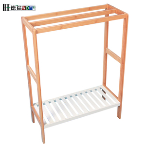 2017 Cheap 5 tiers bamboo storage rack ,commodity shelf