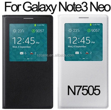 PU leather case cover for Samsung Galaxy Note 3 Neo N7505 phone window case for note3 neo