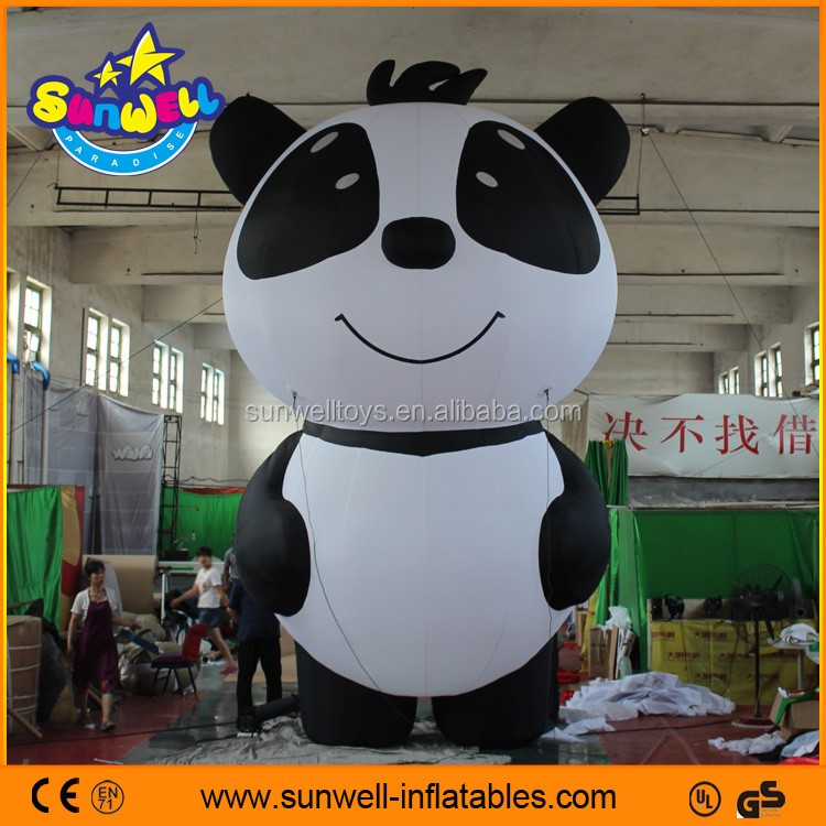 advertising inflatable items giant inflatable chinese panda character model for sale