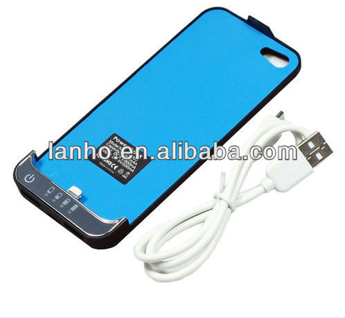 2200mah Newest Long Standby Time I-phone5 External Battery Power Case