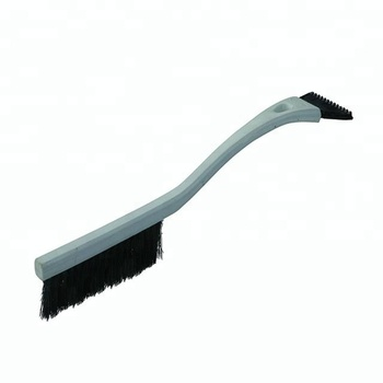 Long handle rubber ice scraper with snow brush