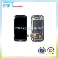 Europe market 4 inches wholesale lcd screen replacement black color lcd for samsung s3 i9300 accept paypal