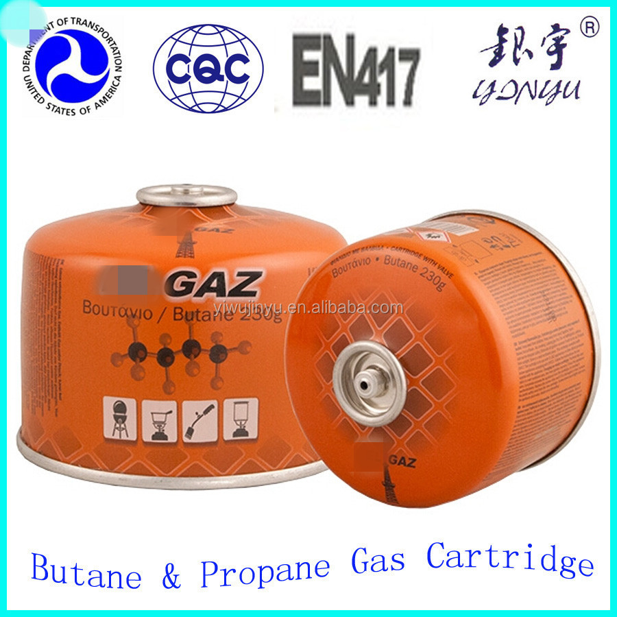 Butane Fuel Cartridge / portable camping gas for butane cartridge