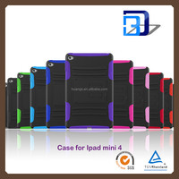 Wholesale Popular kickstand 2 in 1 Shockproof hybrid armor case For iPad mini 4 tablet case fast delivery